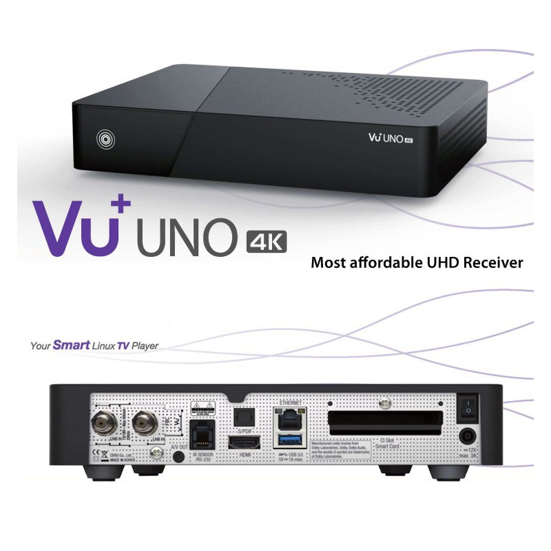 Vu+ uno 4k IP +freesat